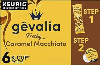 Gevalia Caramel Macchiato Espresso K-Cup Coffee Pods and Froth Packets (6 Pods and Froth Packets)