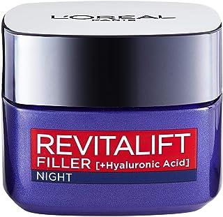 L'Oréal Paris, anti-ageing-nattkräm för mogen hud, Revitalift Filler Night kräm, 50 ml