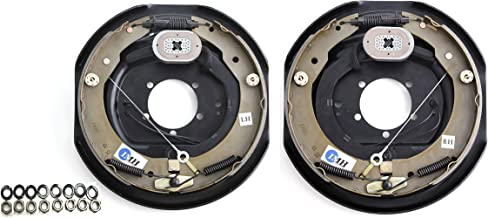 """IMH Equipment 12"""" x 2"""" Self-Adjusting Trailer Electric Brake (1 Right + 1 Left) in Pair"""