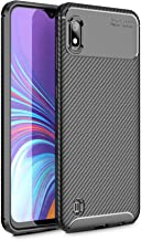 "Case Collection Brushed Carbon Fiber Back Design Cover for Samsung Galaxy A10 Case (6.2"") Slim-Fit Shock Absorption Anti Scratch Protective TPU Bumper for Samsung Galaxy A10 Phone Case"
