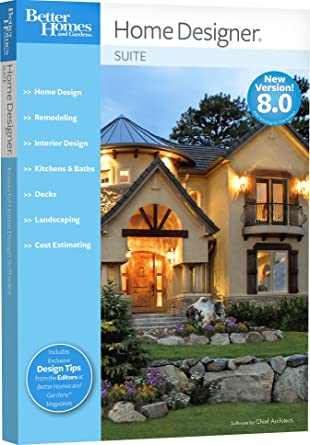 Amazon Com Better Homes And Gardens Home Designer Suite 8 0 Old Version Chief Architect Software