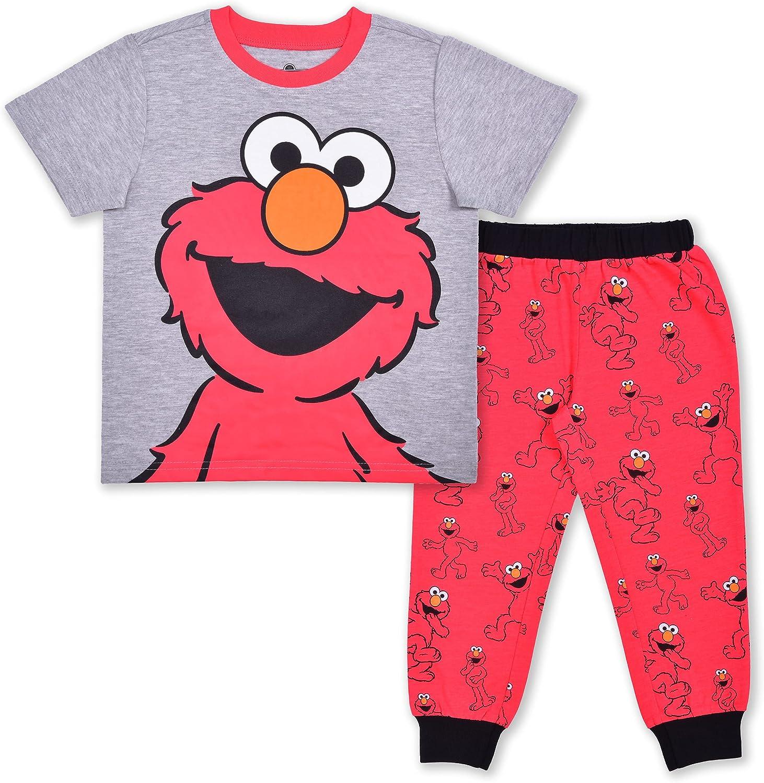 Sesame Street Max 41% OFF Boy's 2-Piece Elmo Tee Pant Jogger Set and Detroit Mall Shirt