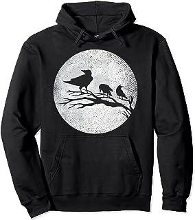 Cuervos góticos con luna llena Sudadera con Capucha