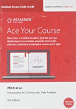 WebAssign for Peck/Short/Olsen's Introduction to Statistics and Data Analysis, Printed Access Card, Single-Term