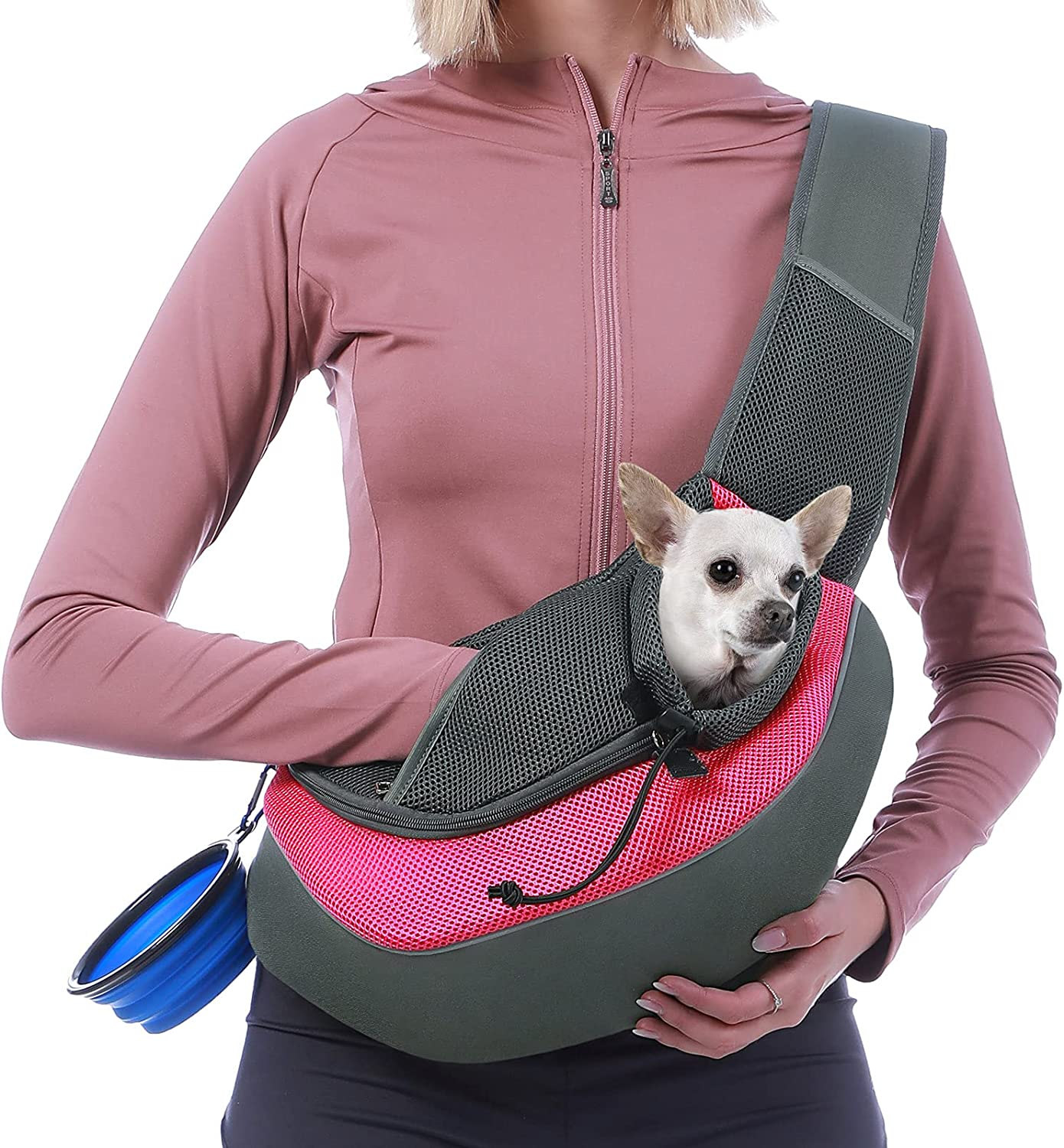 Lowest price challenge Sucipi Pet Dog Sling Carrier Breathable Bottom Mesh Beauty products Tra Hard and