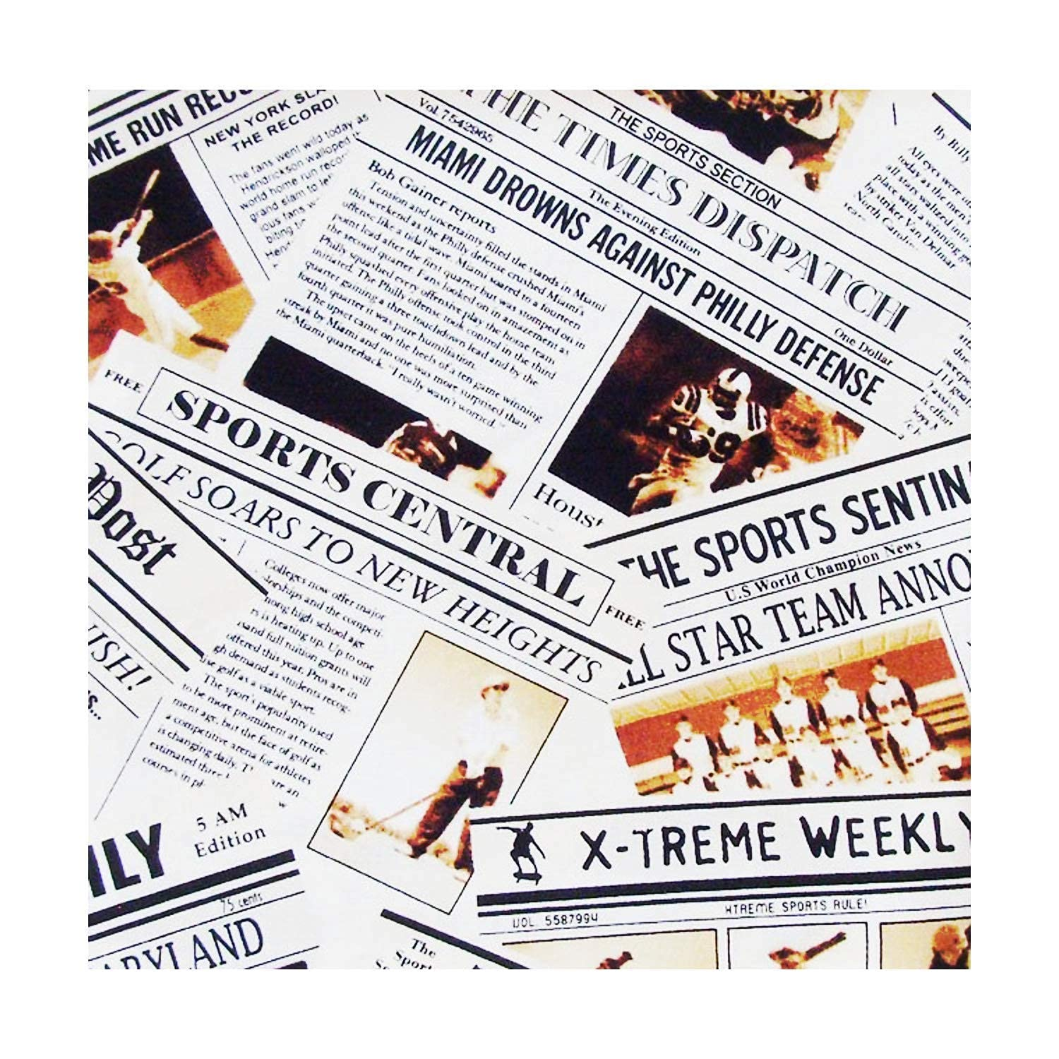 Handmade Vintage Sports News Napkins 4-100% Set Louisville-Jefferson County Mall of ME2D Our shop most popular Cotton