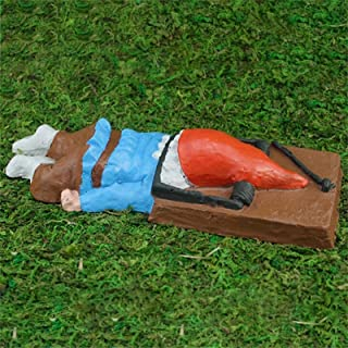 BB67 Funny Scary Dead Gnome Garden Statue Sculpture Evil Gnome Home Outdoor Decoration,Naughty Garden Elf Yard Art, Funny ...