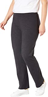 Women's Plus Size Petite Stretch Cotton Bootcut Yoga Pant