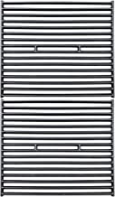 Uniflasy Cast Iron Grill Cooking Grates Replacement Parts for Broil King 945584, 945587, Huntington, Silver Chef, Sterling and Broil-Mate 115554, 115557 Gas Grill Models, Set of 2
