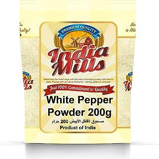 INDIA MILLS White Pepper Powder, 200 gm