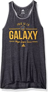 MLS Los Angeles Galaxy Youth Girls Honeycomb Lines Triblend Tank, Medium (10-12), Dark Navy