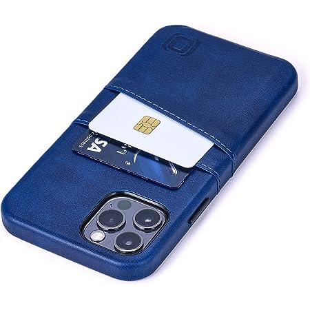 Dockem Exec M2 Funda Cartera para iPhone 12 y iPhone 12 Pro: Funda Tarjetero Slim con Placa de Metal Integrada para Soporte Magnético: Serie M [Azul Marino]