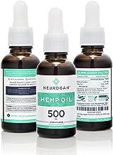 Neurogan Hemp Oil Supplement for Pain 500mg (1 Fl oz), Organic, Sleep Aid, Anti Anxiety and Inflammation, 3-Pack