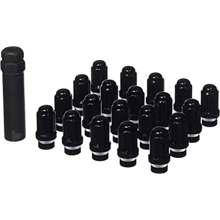 Gorilla Automotive 21133ETBC Black 12mm x 1.50 Thread Size Chrome Finish Small Diameter 5-Lug Kit, (Pack of 20)