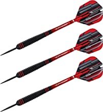 Harrows Ace Ace-Coated Barrel with an Ultimate Vulcanised Rubber Grip for Improved Control 24G Steel Tip Darts