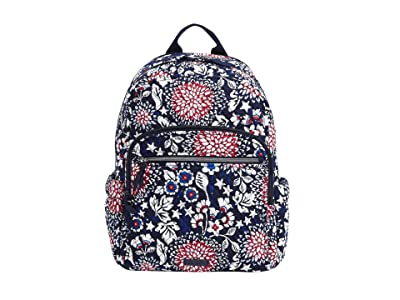 Vera Bradley Campus Backpack (Red/White/Blossoms) Backpack Bags