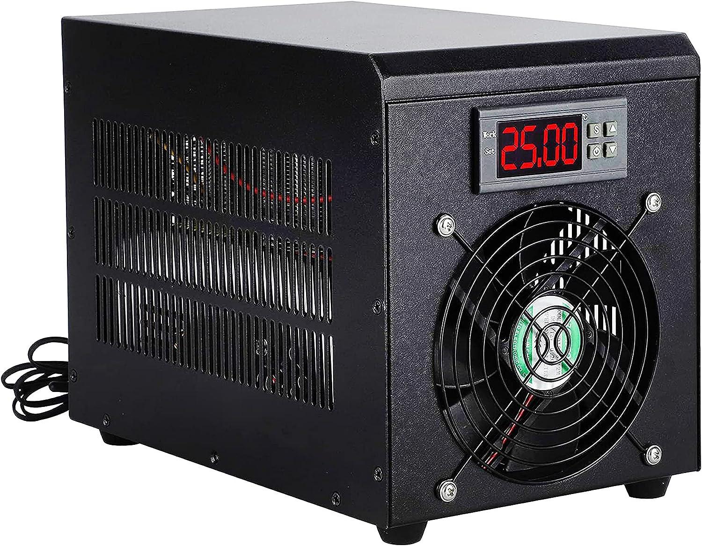 LANJUN Enfriador de Agua para acuarios, máquina de Calentamiento y enfriamiento de peceras para el hogar, acuicultura 60L con termostato Wump 10-40 ℃