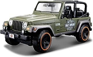 Harley-Davidson-Jeep Wrangler Rubicon 1/27 Maisto Verde