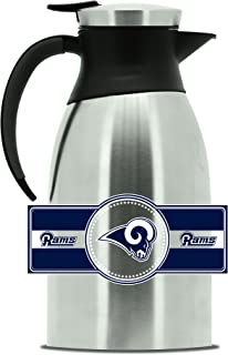 NFL Los Angeles Rams Double Wall Stainless Steel Coffee Pot, Large (2 Liter)