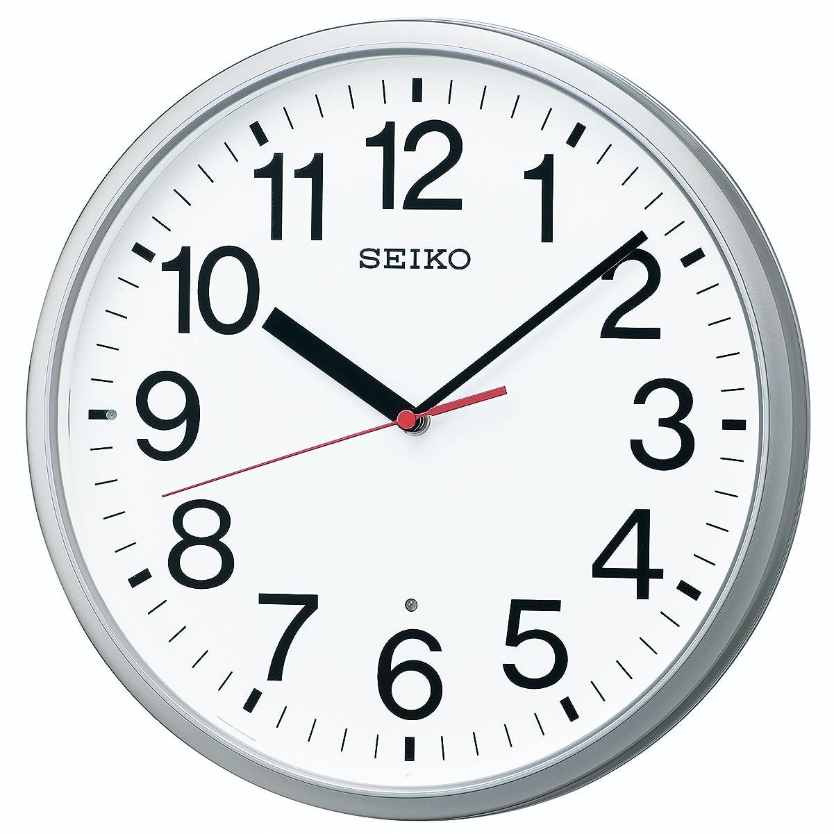 醸造所意味のあるジョグセイコー クロック 掛け時計 電波 アナログ 銀色 メタリック KX230S SEIKO