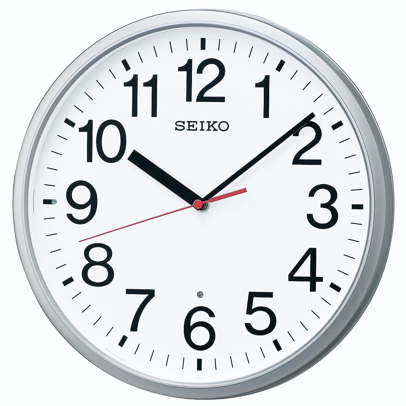 ホップ労働者傘セイコー クロック 掛け時計 電波 アナログ 銀色 メタリック KX230S SEIKO