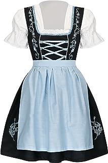 TR Martha - Vestido Dirndl - Cóctel - Manga Corta - para