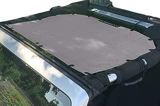 Alien Sunshade Jeep Sunshade Mesh Top Jeep Wrangler 2-Door JK 4-Door JKU 2007-2018 - 10 Year Warranty Front Jeep Top Gray
