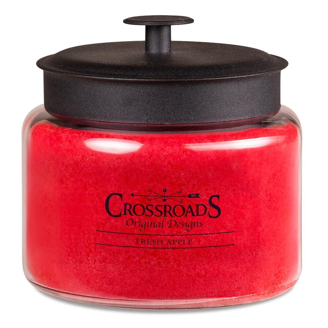 CROSSROADS ORIGINAL DESIGNS Crossroads Fresh Apple Scented 4-Wick Candle, 64 Ounce
