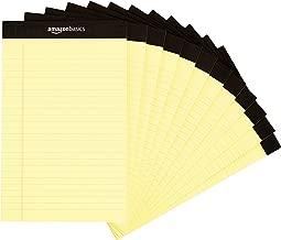 AmazonBasics Papel tamaño legal con renglones, 50 hojas por bloc, amarillo, 12.7 cm x 20.3 cm