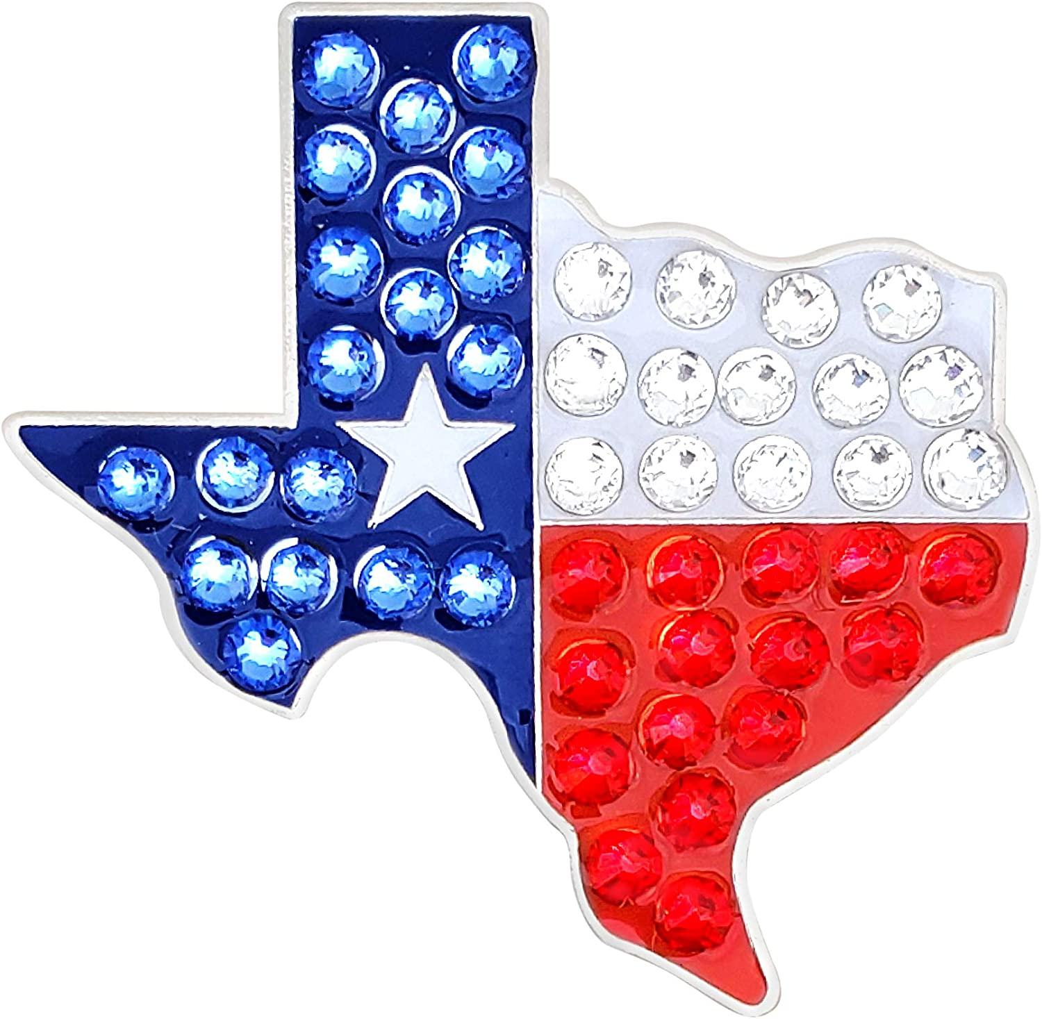 Texas Flag Crystal Golf Ball overseas Marker - Bling to Charlotte Mall Some Gam Your ADD