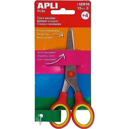 APLI 3628729031–Forbici da scuola, rosso, 13cm