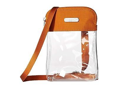 Baggallini Legacy Stadium Bags Clear Bryant Crossbody (Orange) Cross Body Handbags