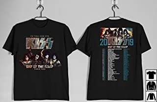 Kiss Tour Shirt Kiss End Of The Road Tour 2019 Tour Dates Front and Back T-Shirt, Gif Shirt, Long Sleeve, Hoodie