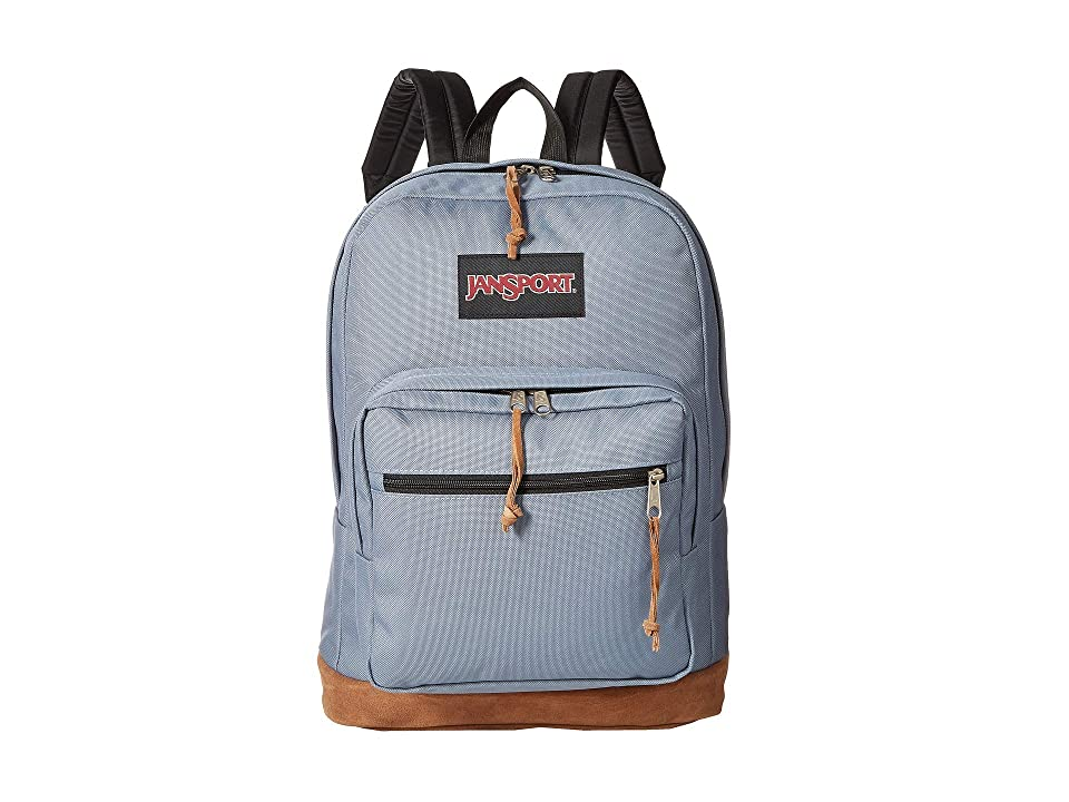 JanSport Right Pack (Pewter Blue) Backpack Bags