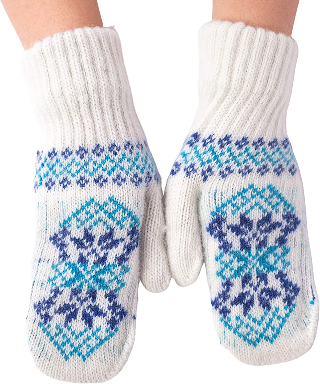 Knitted Cozy Wool Mittens for Gift, Outdoor, and Indoor use