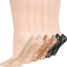Hot Sox 6 Pack All Over Lace Liner Socks