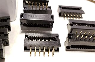 DGZZI 30pcs FC-16p Female 2.54mm Pitch FC IDC Connector Socket 2x8 Pin Dual Row ISP JTAG Header for Flat Ribbon Cable Sample 16P