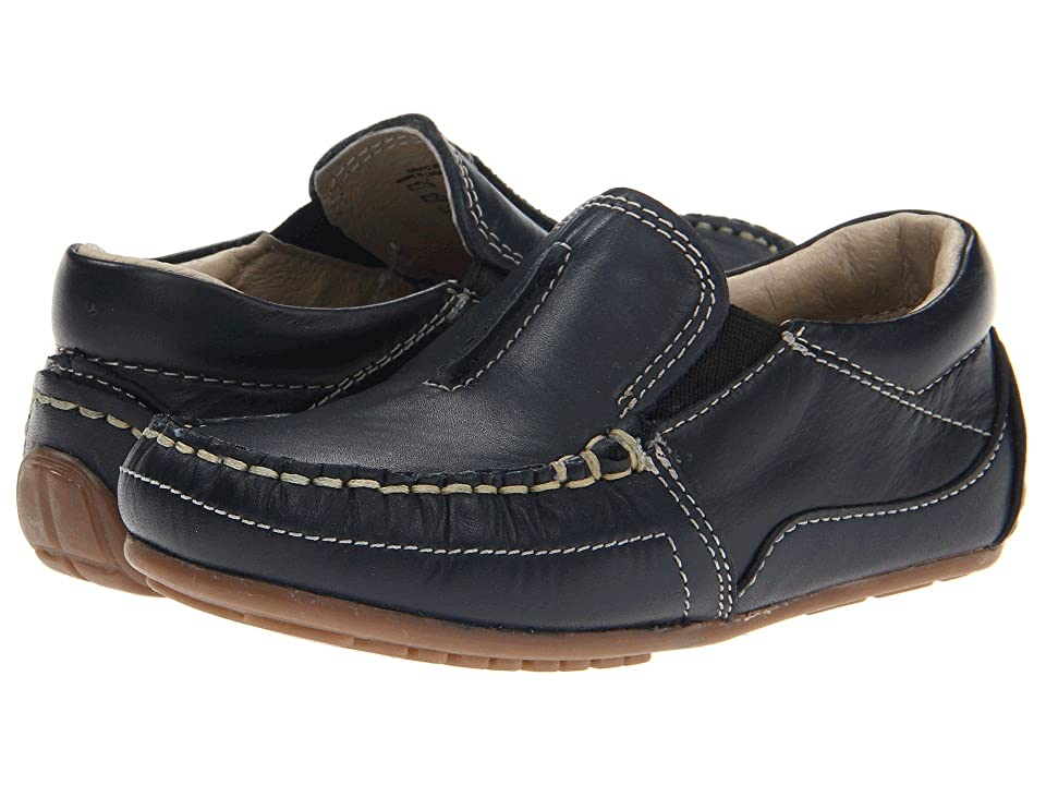 Kid Express Colton (Toddler/Little Kid) (Navy Leather) Boys Shoes