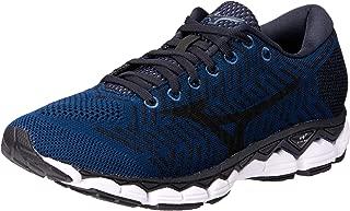 Mizuno Australia Men's Waveknit S1 Running Shoes, Blue Wing Teal/Black/Silver