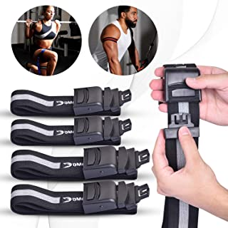 DMoose Fitness Occlusion Bands for Men and Women, Pack of 4 Bands, Blood Flow Restriction Bands, Training Bands, Weight Lifting Bands, Exercise Bands for Fast Muscle Growth