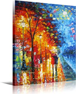 Eatco HD Art Art Wall Art Lovers Walk On The Side of The Lake Picture Print Canvas Wall Art Modern Giclee Artwork Home Dec...