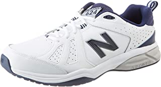 New Balance Men's 624v5 Cross Trainer, White White Navy White Navy, 12.5 13 UK Wide