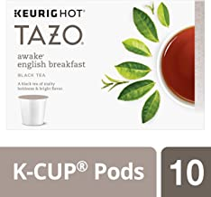 Tazo K-Cup Pods, Awake English Breakfast Black Tea, 10 Count, 1.51 Oz (Pack of 6) 880 grams