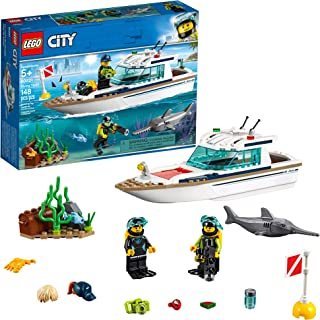 LEGO City Great Vehicles Diving Yacht 60221 Building Kit,...