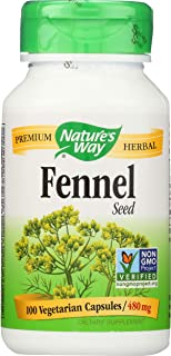 Nature's Way Fennel Seed, 100 Vegetarian Capsules