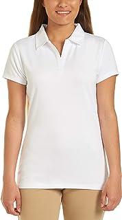 Nautica Women's School Uniform Short Sleeve Performance Polo Polo Shirt