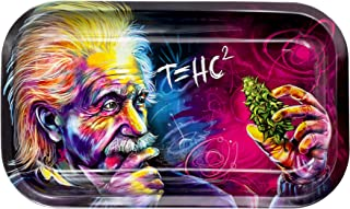 Metal Rolling Tray, T=HC2 Einstein Design by V Syndicate, Medium (Available in 2 Sizes)