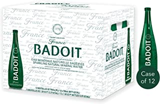 Badoit Sparkling Natural Mineral Water in Glass Bottle - 750ml (Pack of 12)