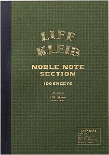 kleid ノート LIFE×kleid ノーブルノート オリーブ A5 2mm方眼 8957