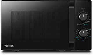 Toshiba MW2-MG20PF Four Micro-ondes Combiné, 20 L, 5 niveaux de puissance réglables, lumières LED intégrées, 800 W, Grill ...